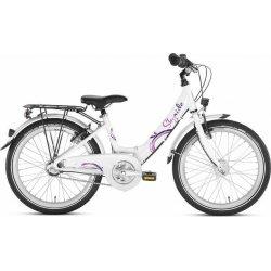 Vélo enfant Puky Skyride Nexus 3 Dynamo Moyeu Blanc et Rose