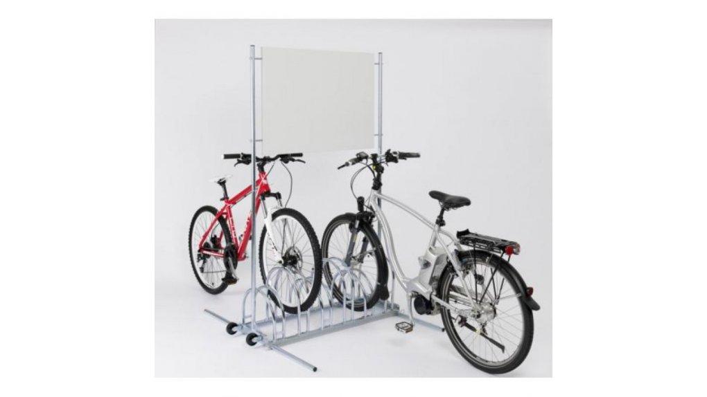 Parking à vélo bilatérale 6 places avec support publicitaire