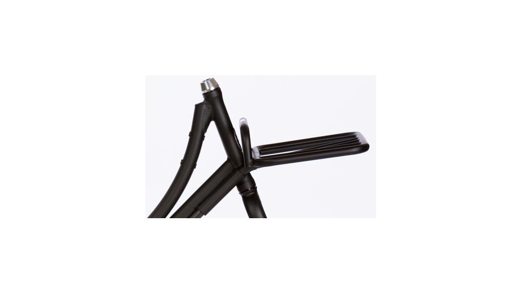 Porte-bagage avant stable (fixé au cadre), cap. 15 Kg, noir brillant
