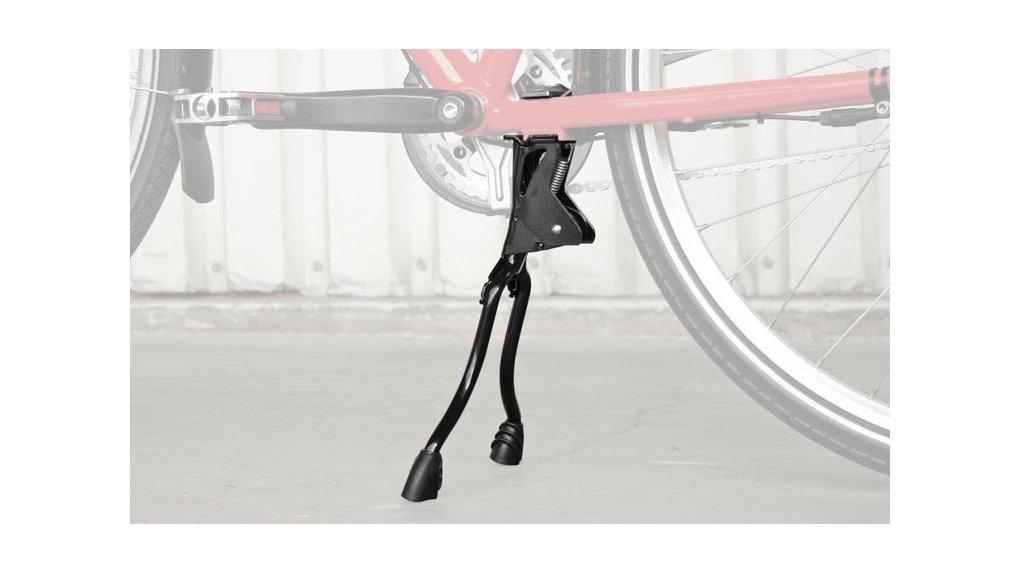 Béquille double pour vélo porteur