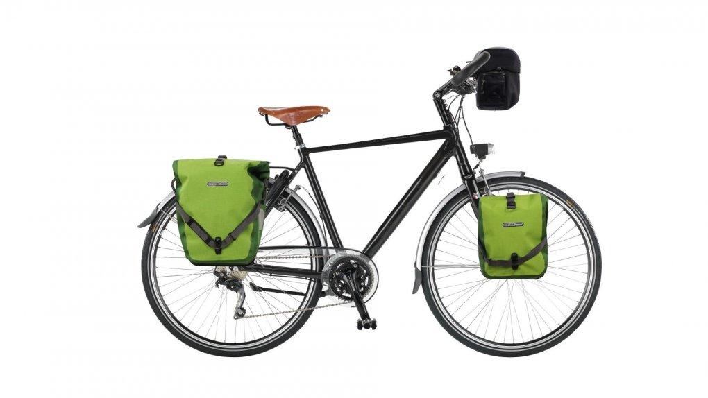 Vélo cyclotourisme cadre homme MC Explorer avec sacoches Ortlieb en option