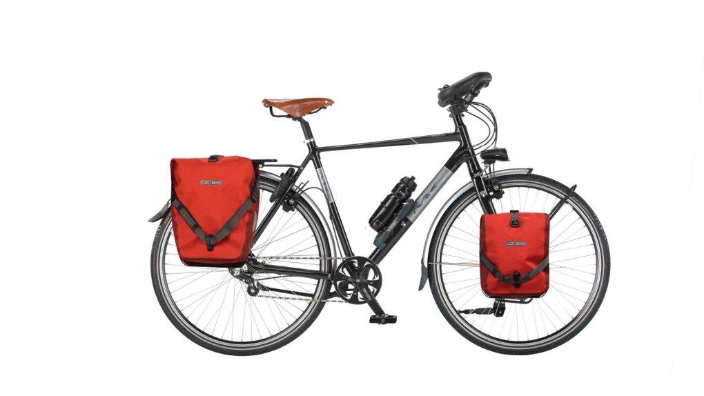 Vélo Rohloff cyclotourisme MC Extreme avec options selle cuir Brooks et sacoches Ortlieb