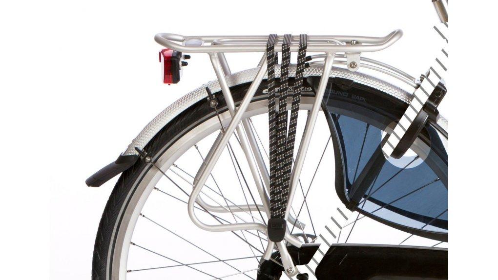 Porte-bagage arrière aluminium, cap. 25 Kg, coloris argent
