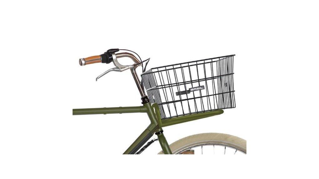 Panier métallique,pour vélo avec porte-bagage avant