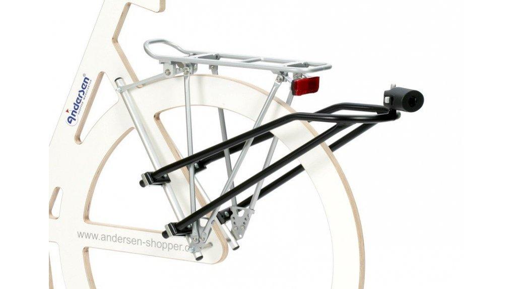 Fixation pour chariot Andersen,aux haubans d'un vélo,sans serrure