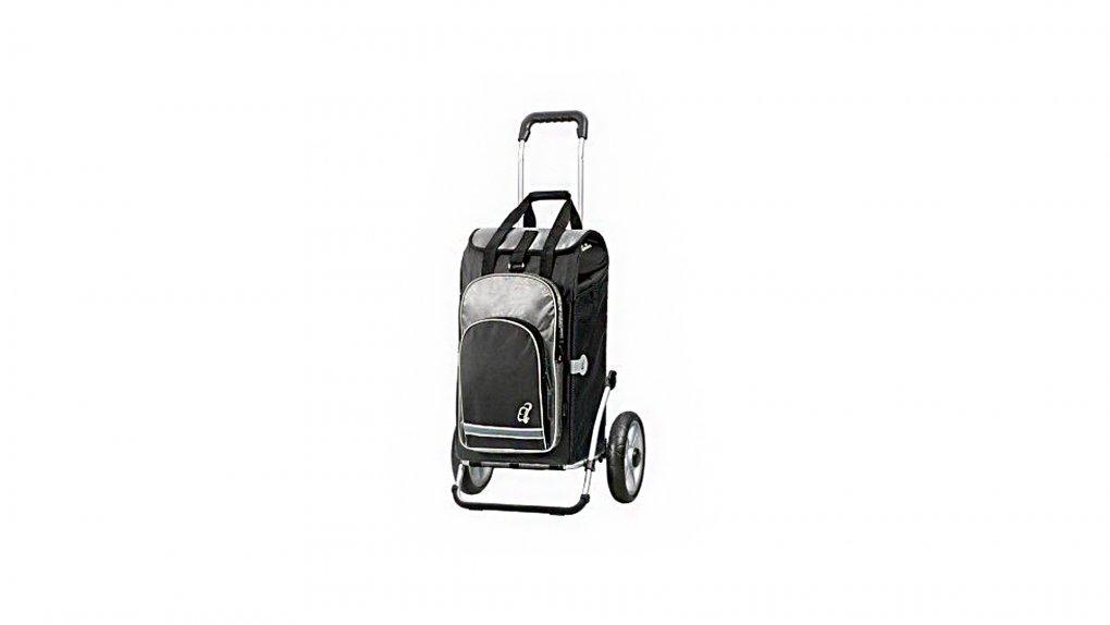 Chariot avec sac isotherme, fixation porte-bag., noir