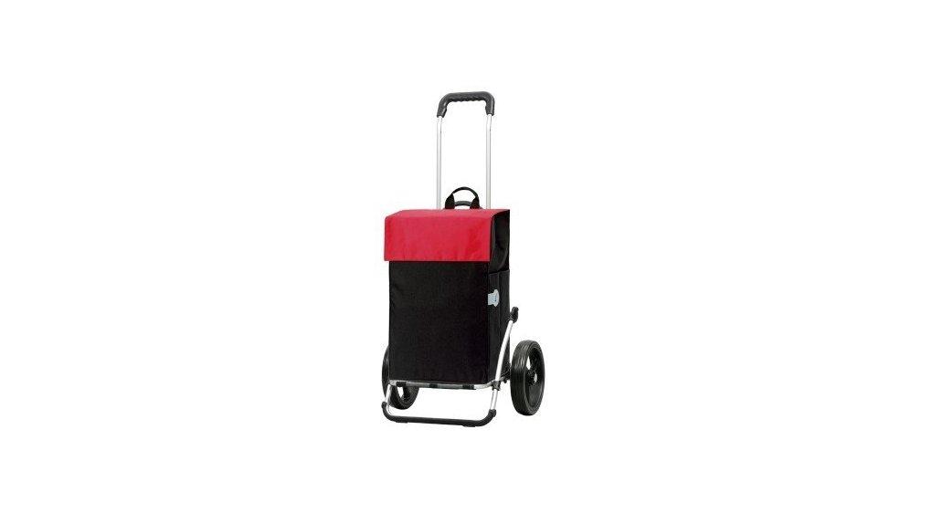 Chariot de course, fixation porte-bag., noir et rouge