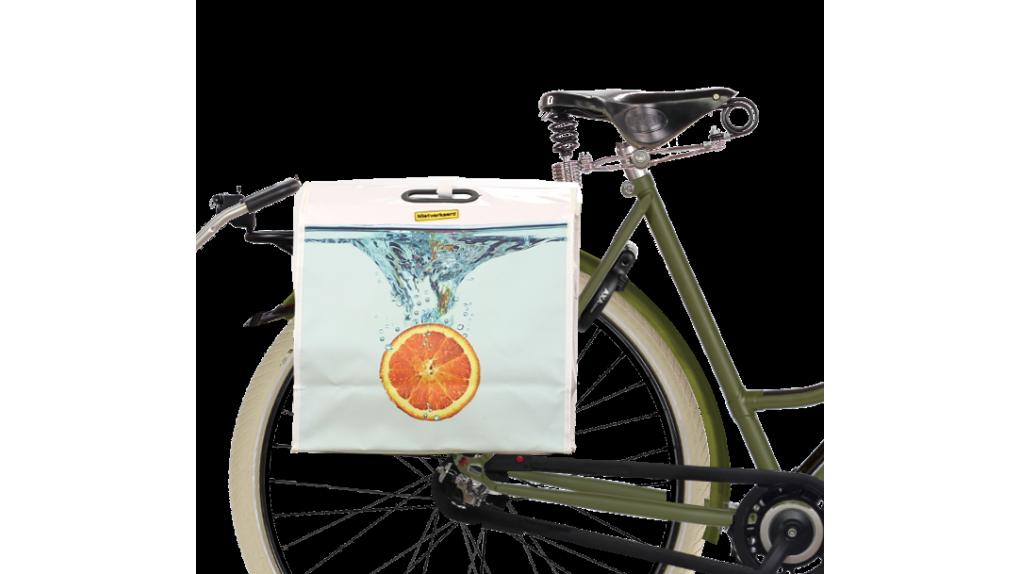 Sacoche de vélo et sac de course Orange