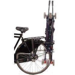 Porte-poussette à fixer au porte-bagage d'un vélo
