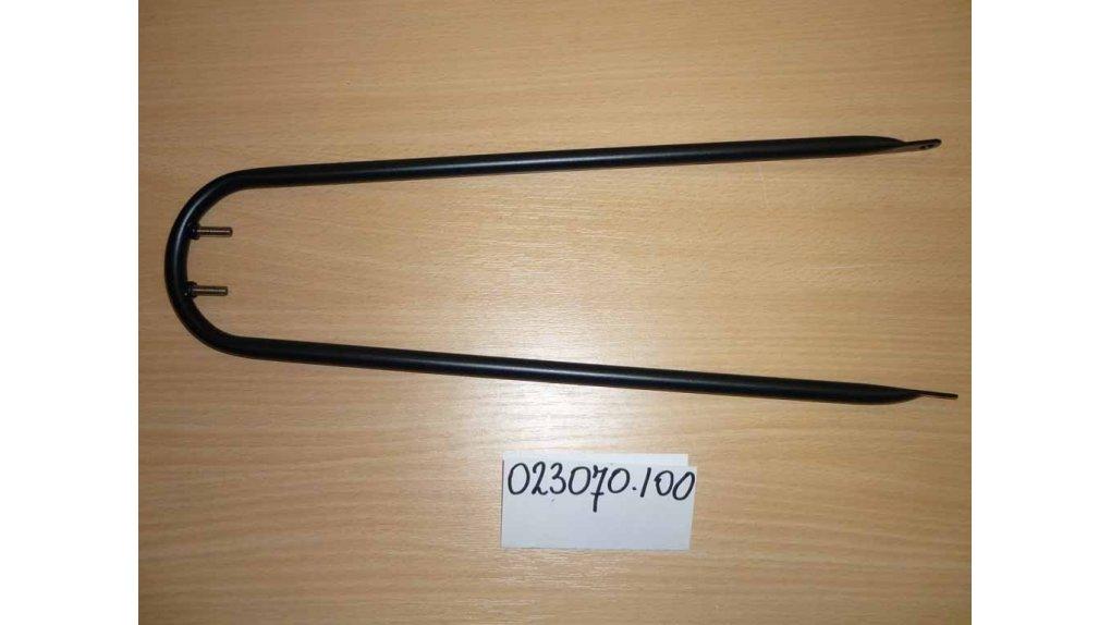 Support de garde-boue avant 63 ou 65 mm ou bois noir mat