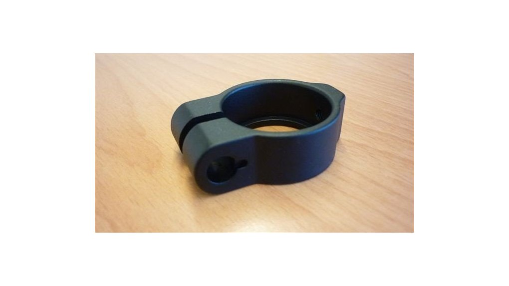 Collier noir de tige de selle 34,9mm pour vis M8 (ajouter116590)