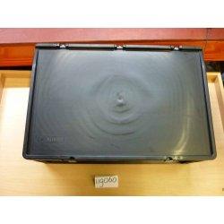 Casier plastique noir avec couvercle dim. 60X40X22 cm