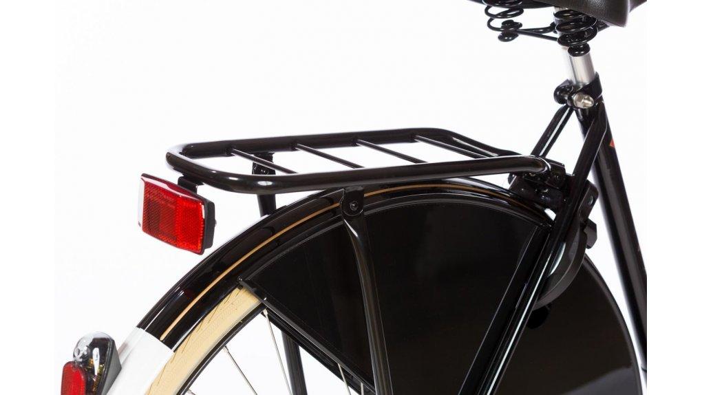 Porte-bagage noir mat en acier, capacité 25 Kg