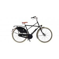 Vélo hollandais Amsterdamer Cross High sans option, noir brillant avec filets dorés